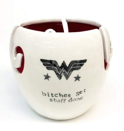 Wonder Woman XL Yarn Bowl from printandclay Etsy shop