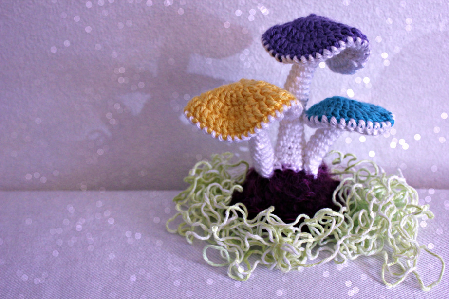 mushrooms from  Crochet  by Walters & Cosh