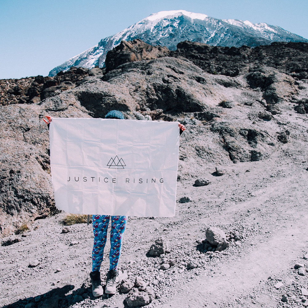 """Zoe climbed Kilimanjaro - """"It's been – without a doubt – equally the hardest and most eye-opening thing I've ever experienced. Taking on such a big climb that's globally recognized, I thought it'd be the perfect way to get exposure for Justice Rising and also invite others to help out, especially with both being located in Africa!"""""""