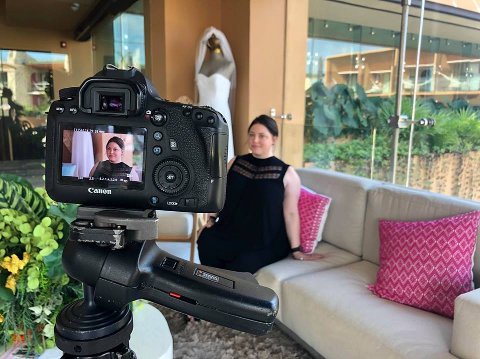 Dana Braun being interviewed by IADWP (International Association of Wedding Professionals) during the LOVE Mexico romance conference December 2018