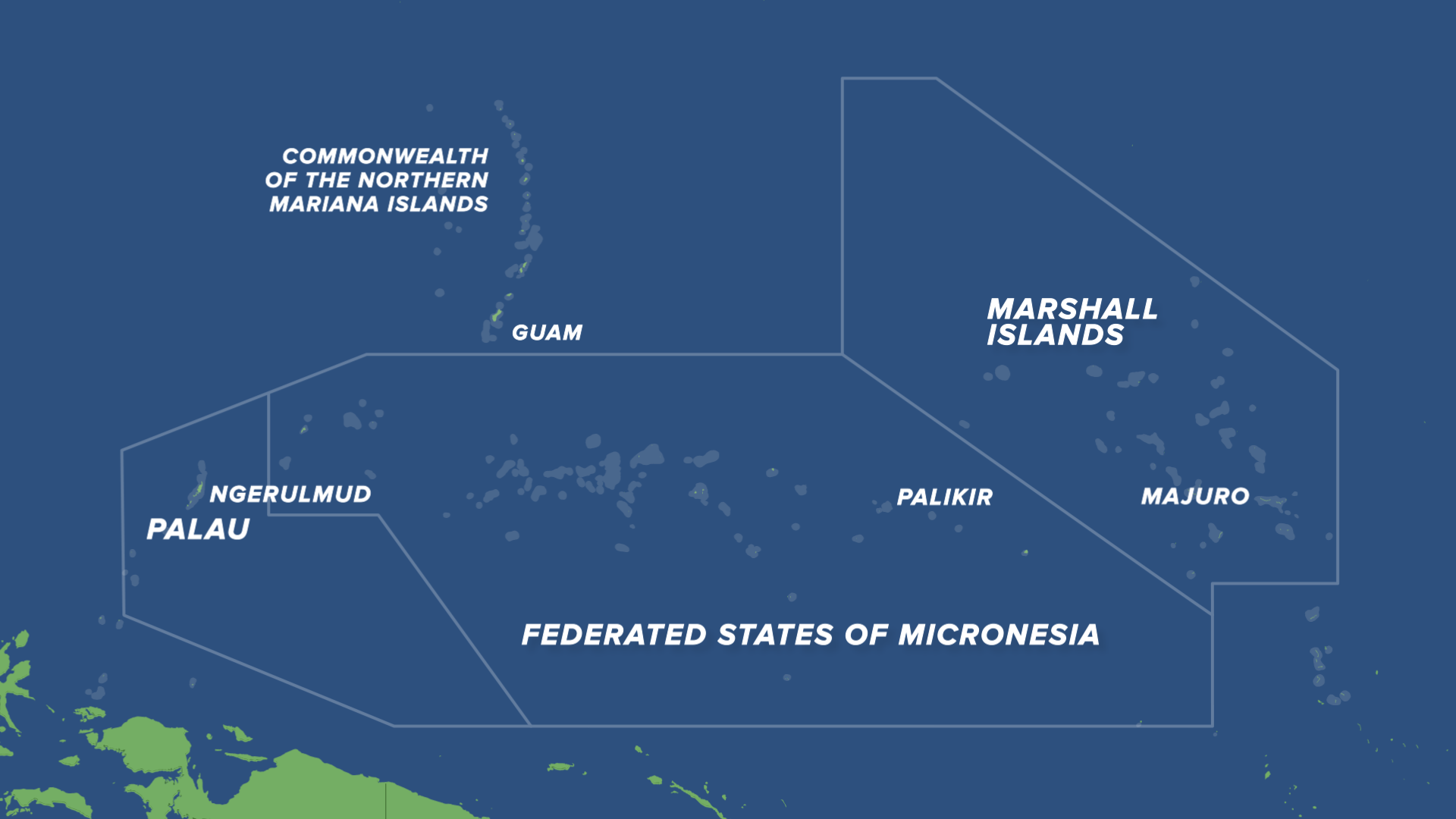 Map of the Compact of Free Associations (COFA) Islands.