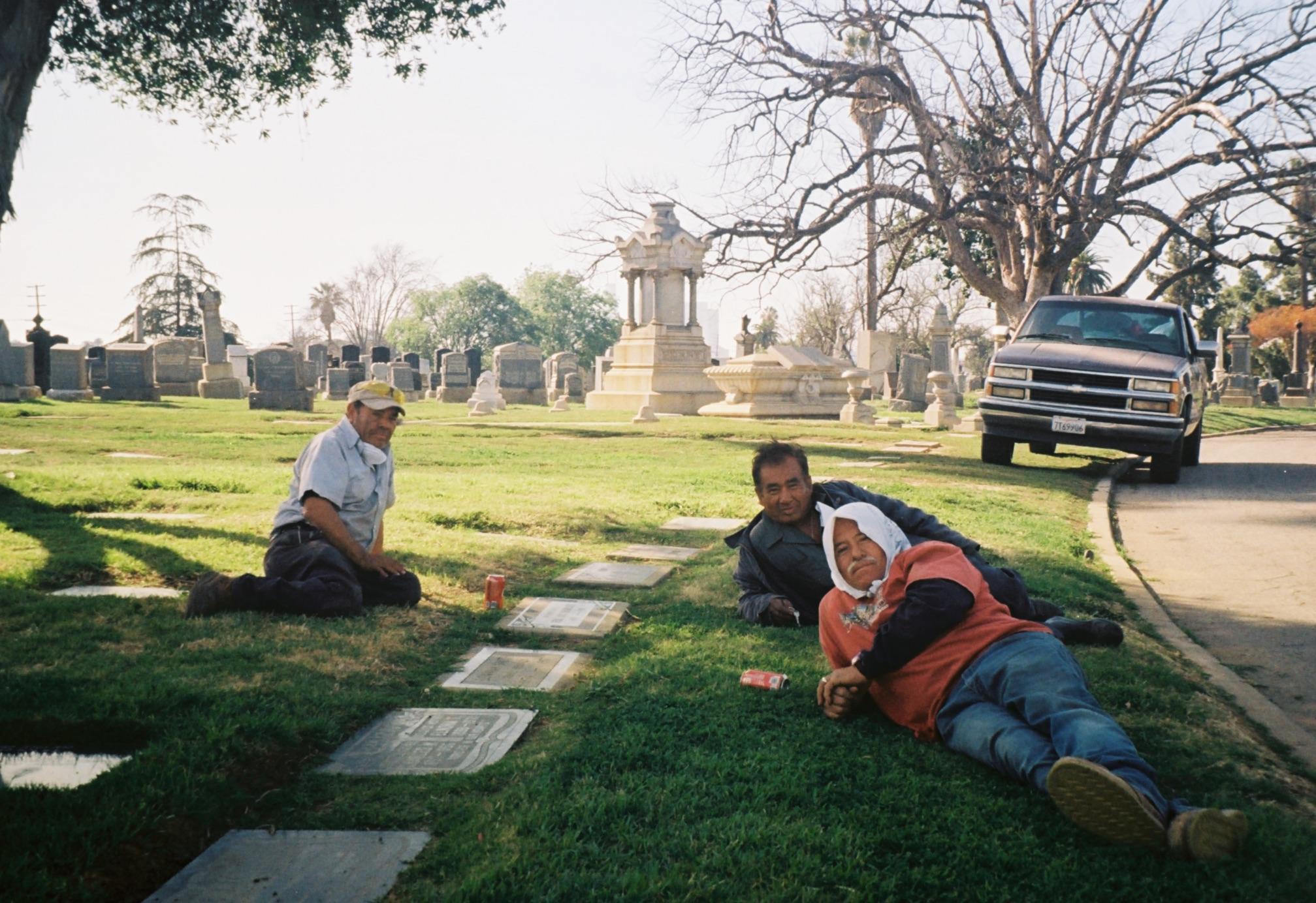 Three Groundskeepers On A Break.jpg