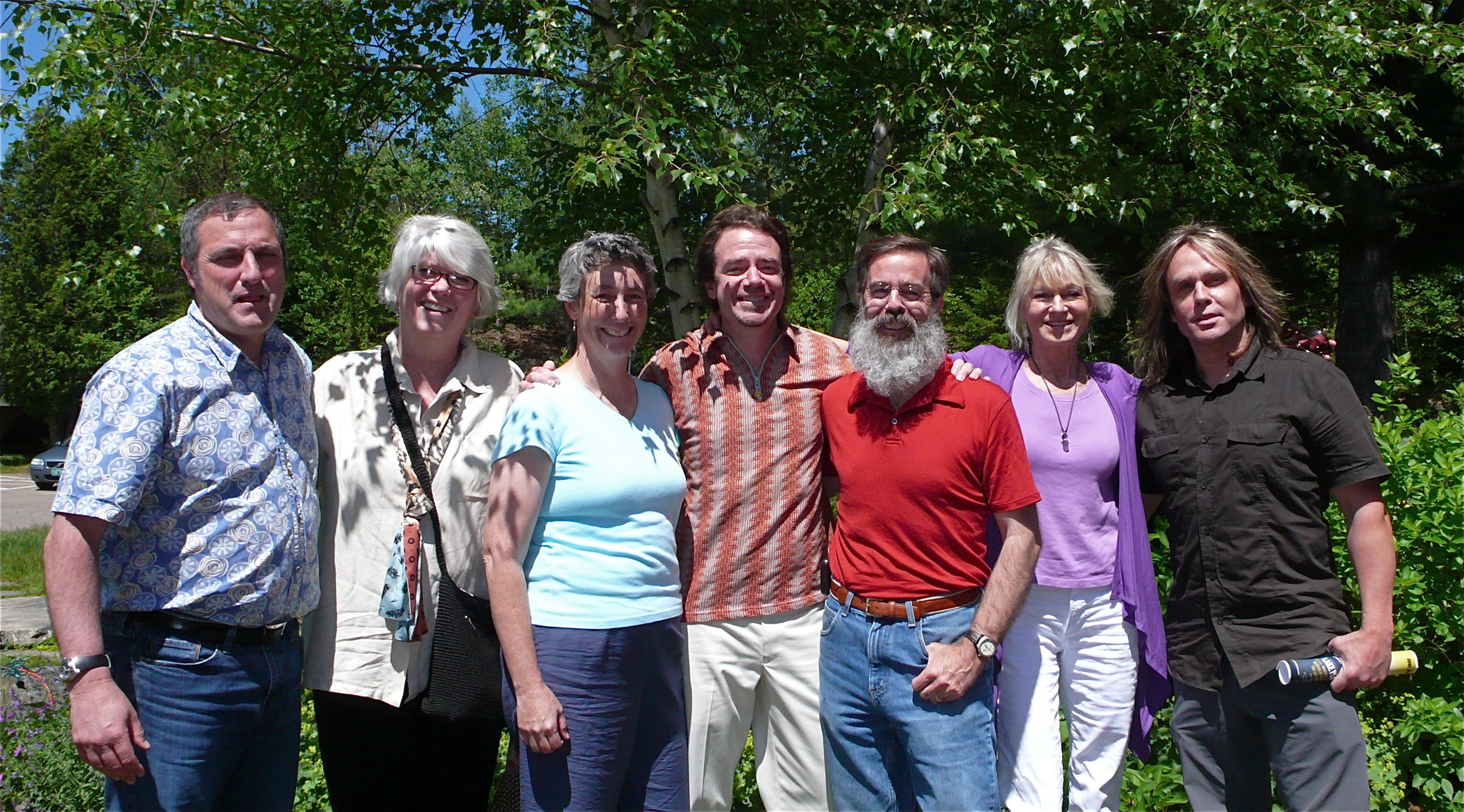 Outreach Team in Lake Placid: Paul Gallo, Gail Brill, Tara Kelly, Art Jones, Steve Costello, Kate Fish, Michael Smith.