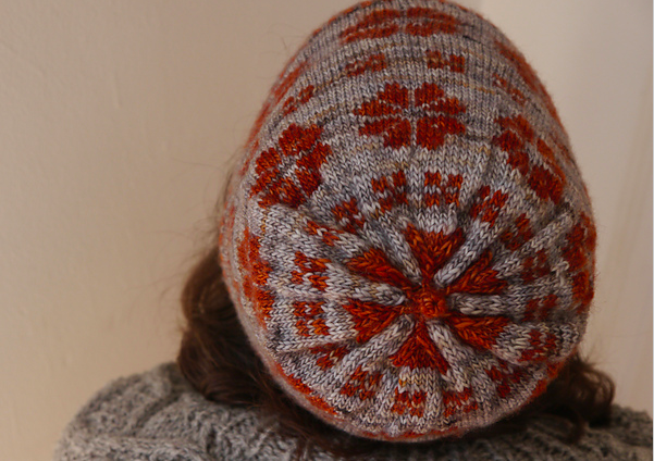 Whin - For the healing properties of flowers. Worked from the bottom-up with a two-color brim, colorwork and a slight slouch. $5. Purchase here.