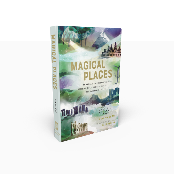 Magical Places - An enchanting, illustrated guide to the world's most magical places, from fairy tale forests to haunted houses.Magical Places is for armchair-voyagers and pilgrimage-makers alike. This beautiful volume will take readers on a charmed journey around the world, dipping into some of the most storied destinations in the farthest flung corners of the globe. With chapters like Places of Healing, Haunted Places, Magic in Nature, Fairy Tale Locales, The Past in the Present, and Ley Lines -- the arcing lines that traverse the planet, where magical phenomena frequently occur -- wanderlust is sure to be stoked for frequent travelers and the magic curious alike.With an eye towards the mystical, Magical Places will explore well-known sites like Stonehenge and Uluru, as well as lesser-known destinations like The Knucker Hole in England, Angkor Wat in Cambodia, the Fairy Glen on the Isle of Skye, and the pink lakes Retba in Senegal and Hillier in Australia. Many of these sites will be accompanied by sacred rituals, mystical incantations, and more inspired by the energy and history of these magical locations.Featuring beautiful illustrations with a smattering of lush, full-color photography, this book will entice readers who long for adventure and enchantment in the world, who want to visit or at least learn about places where magic is real -- or once was.Available here.