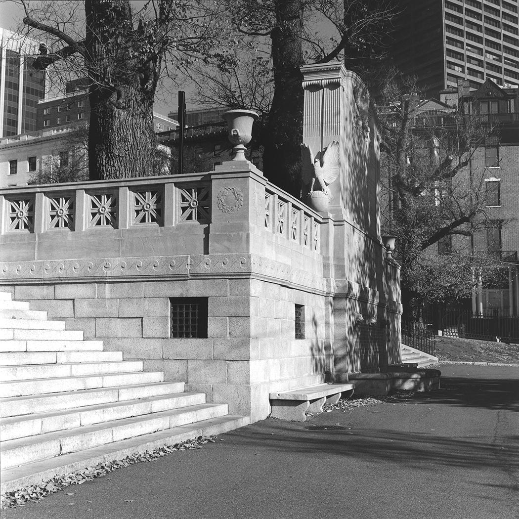 54th Massachusetts Monument, Rear Pediment designed by Stanford White, Boston, Massachusetts, 2015
