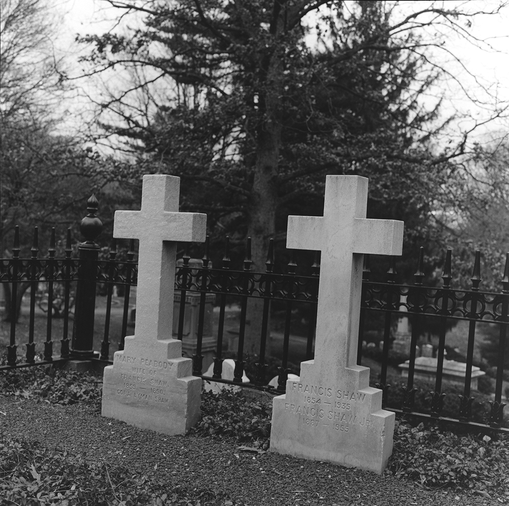 Parents of Robert Gould Shaw Gravesites, Mt. Auburn, Cambridge, Massachusetts, 2015