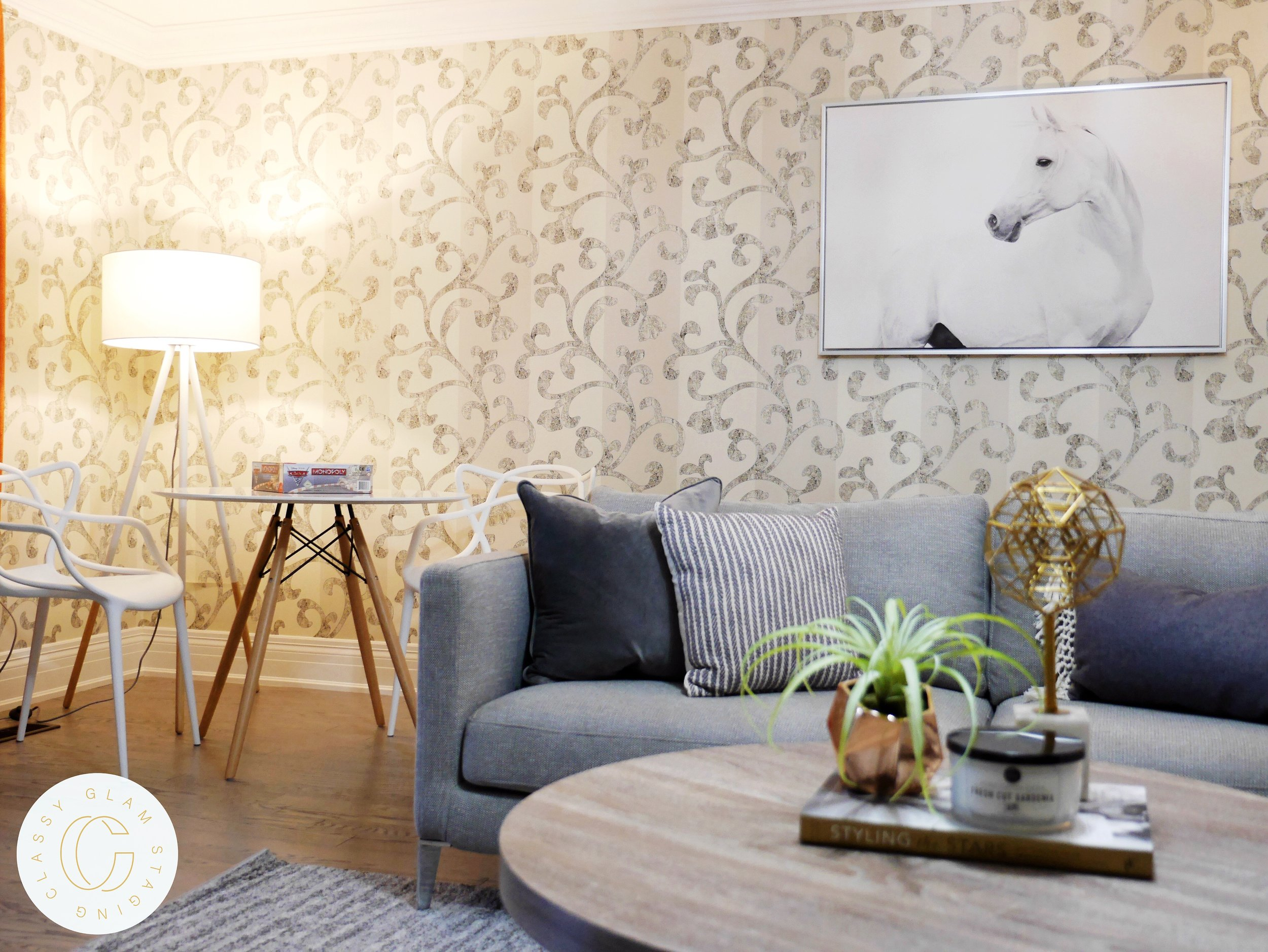 Foley Vaughan luxury home staging home stager | Classy Glam Staging 9