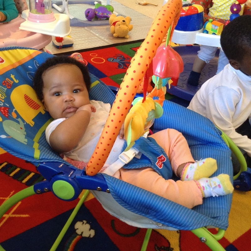 INFANTS 8 WEEKS - 12 MONTHS - At this age infants require a clean, safe and nurturing environment. They need attention, are eager to communicate, and are aware of the world around them. It is important to meet their needs by: providing continuous physical interaction, providing floor time for motor skills, outdoor play, and more.