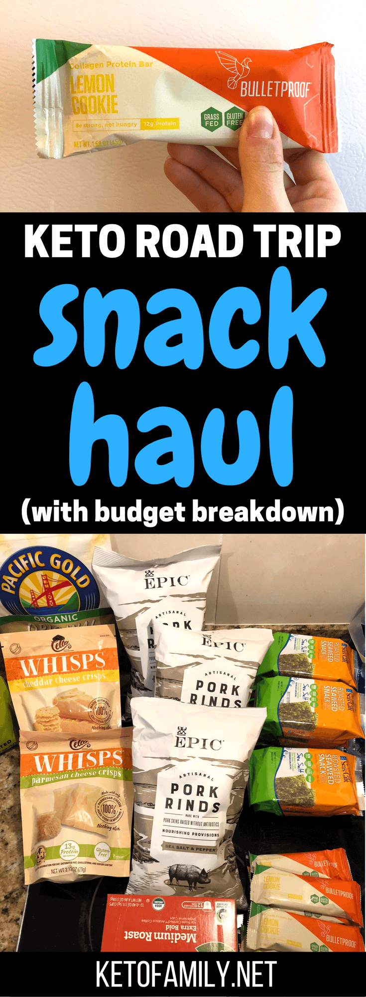 Trying to keep keto on a road trip? Check out our breakdown of the best keto-friendly road trip snacks you can get (with a price breakdown of how much we saved by not going out to eat)!
