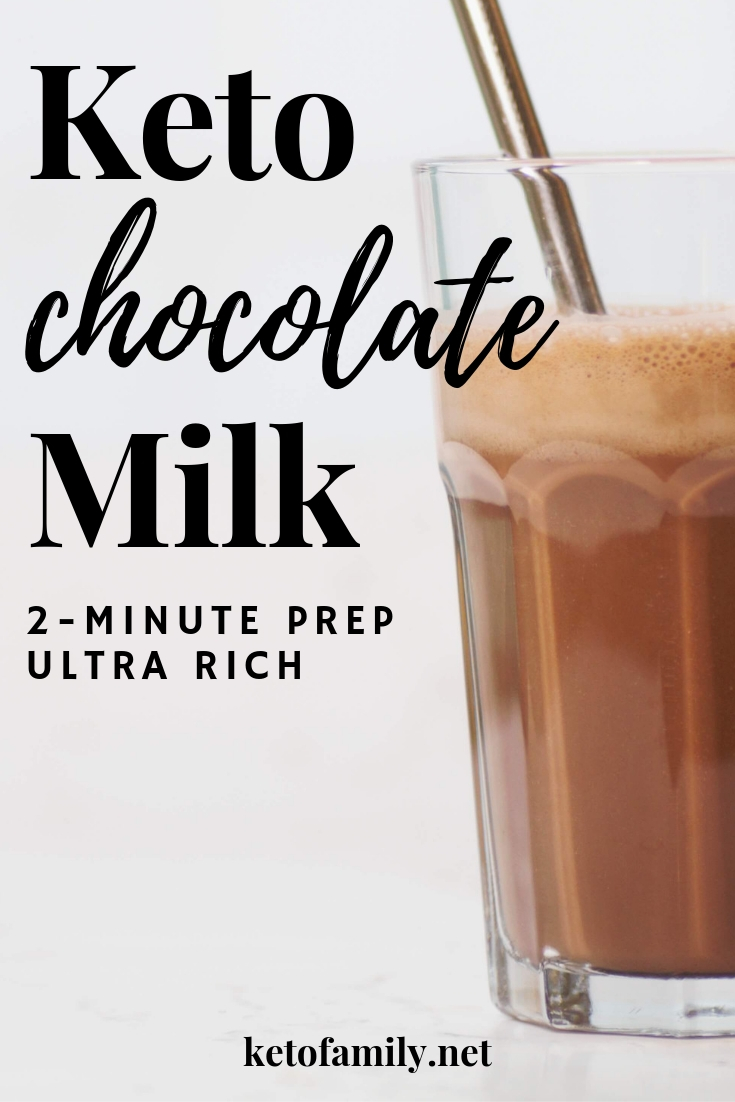 Keto chocolate milk takes just a few minutes to prep, and creates a totally creamy, frothy, and dairy-free treat. Perfect for kids (and kids at heart)!