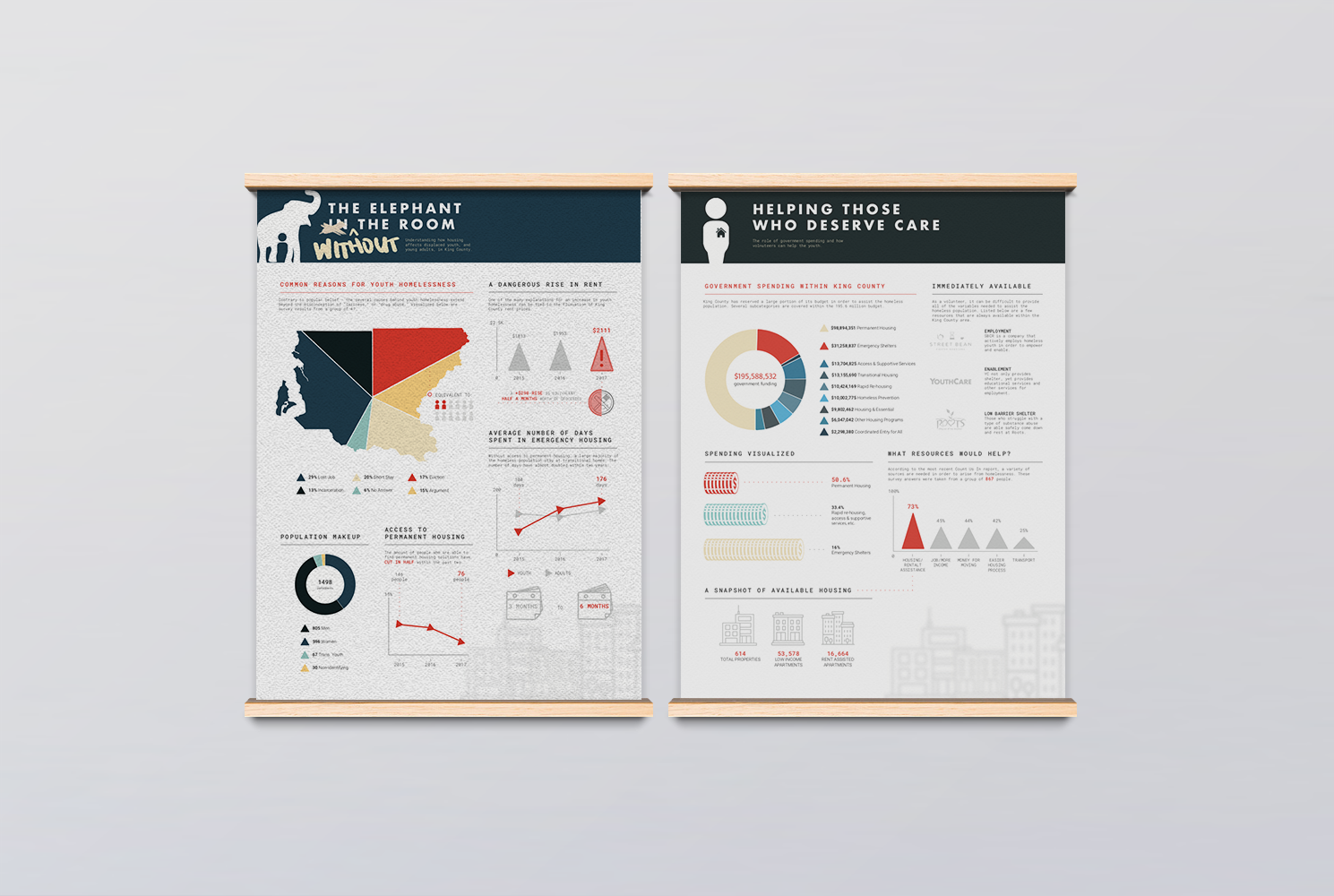 Infographics Design - the Homeless youth