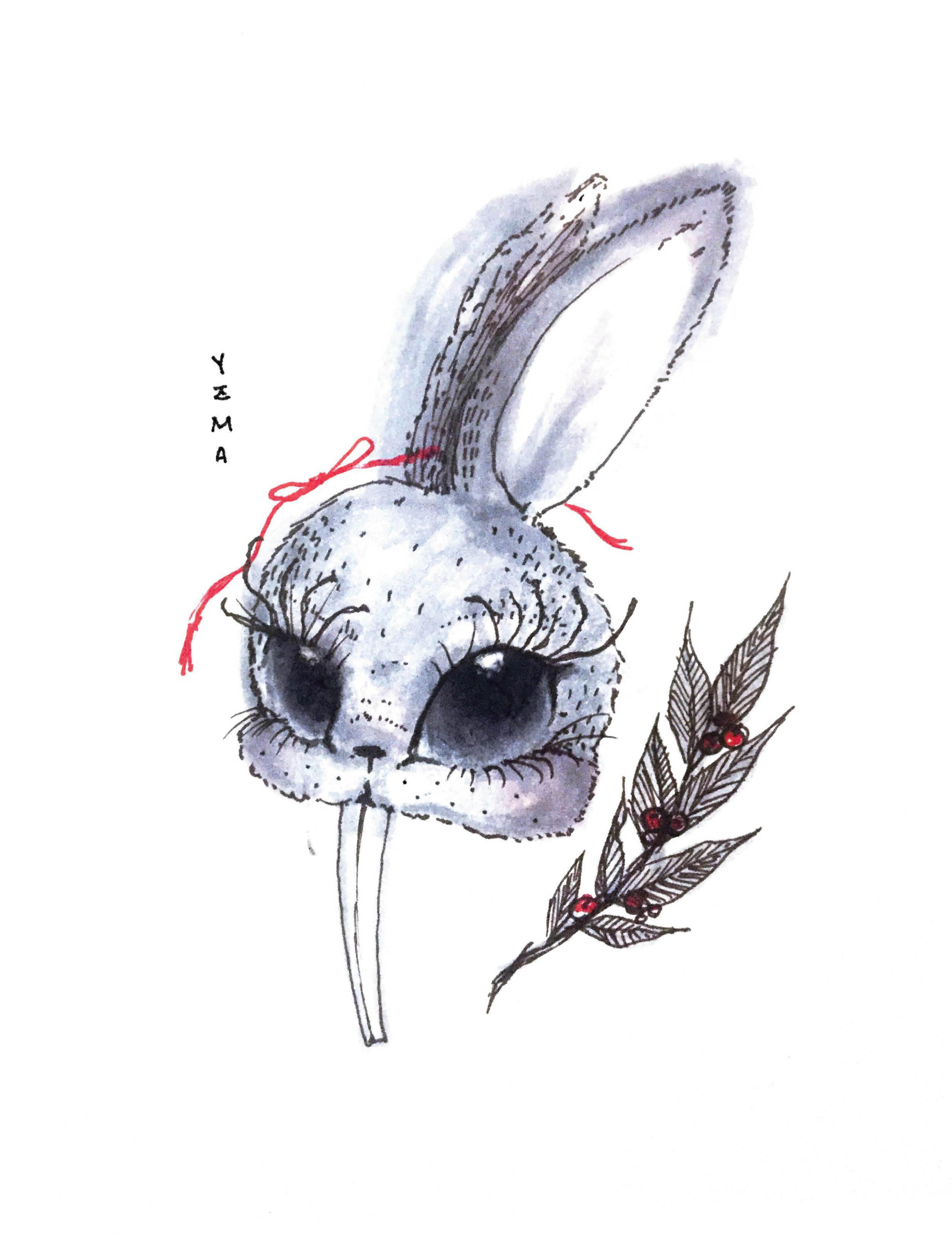 Yzma as a Bunny
