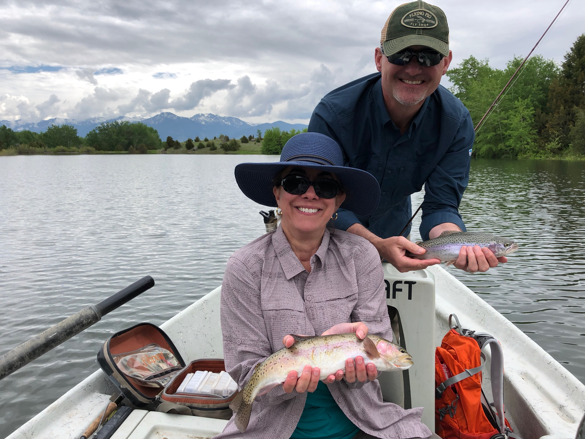 Dave and Nancy landed these two beauties on a local private lake... Note: Nancy's is bigger!