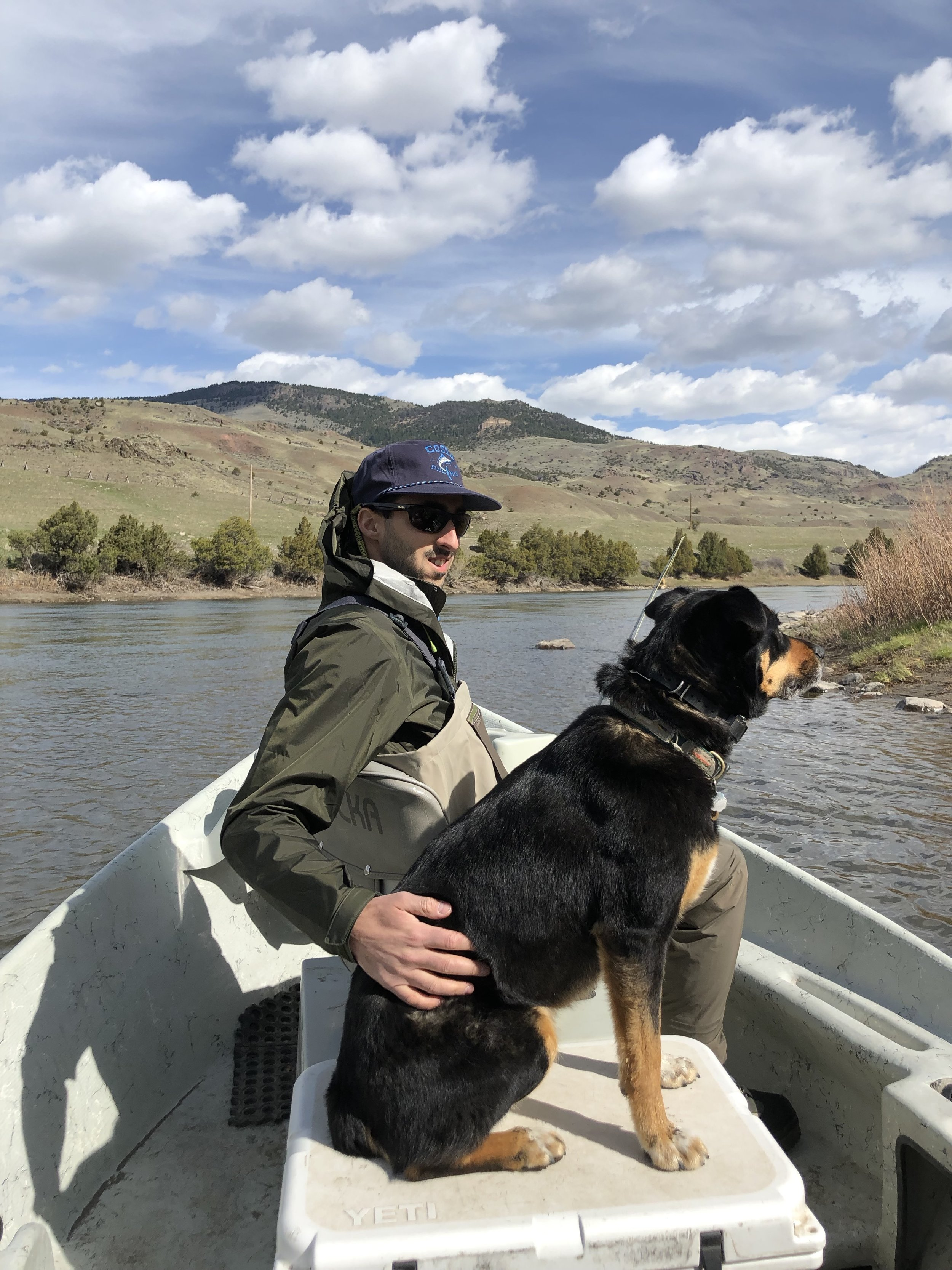 Charles and Lady taking in the Yellowstone River views