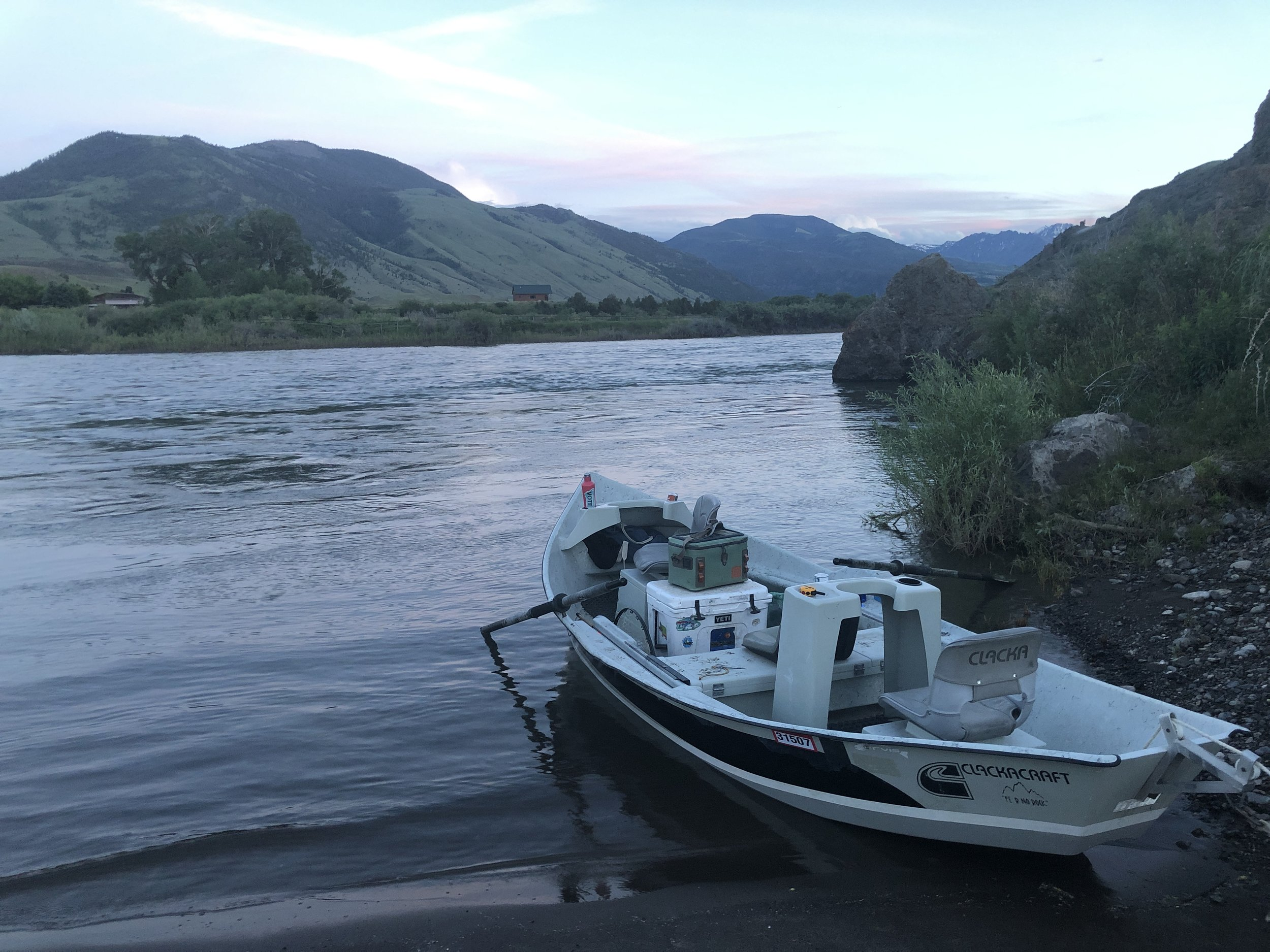 Drift boat trip on the Yellowstone River!