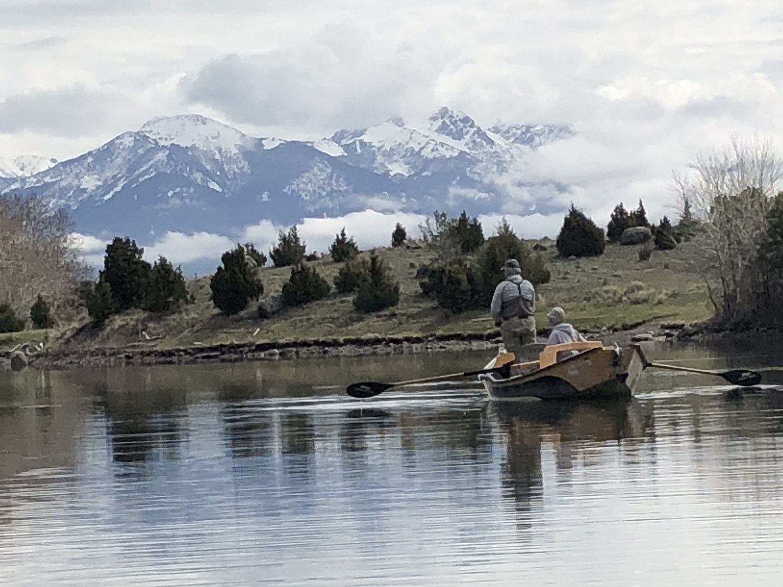 Single angler on Story Lake