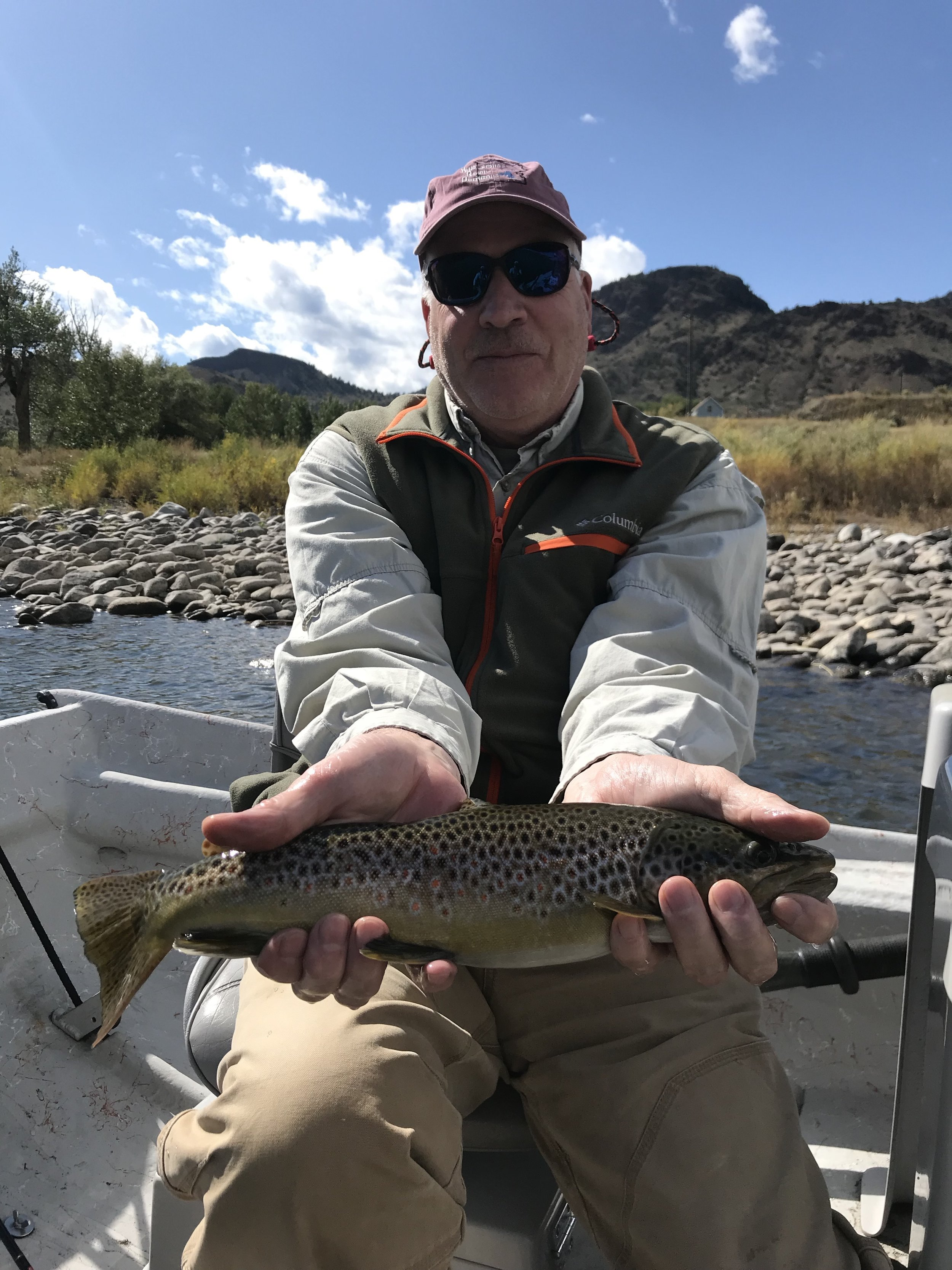 Dave with a nice Yellowstone River Brown Trout