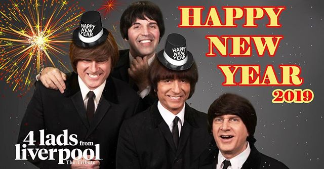 """New Years Eve with """"4 Lads From Liverpool"""" at Pacino's in Mesa, Arizona call 480-985-0114 for reservations, only a few seats left, includes a 5 course dinner and Beatle show only $99 per person, includes free champagne and party favors. Entrees are prime rib or salmon, come join us 🎉🎊🎼🎉🎊🎼 • • #mesanewyears #mesa #newyearseve #mesaarizona #beatlestribute #beatlestributeband #phoenixarizona #whattodofornewyears"""