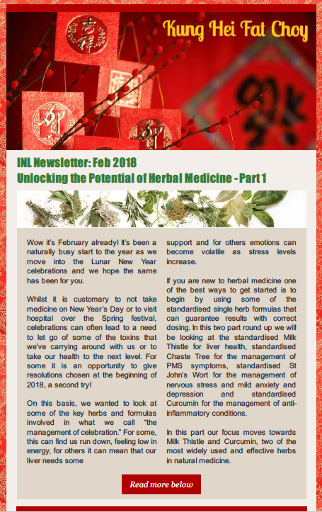 Click below to download:  INL Newsletter (Feb 2018) Herbal Medicine Part 1 - Milk Thistle & Curcumin