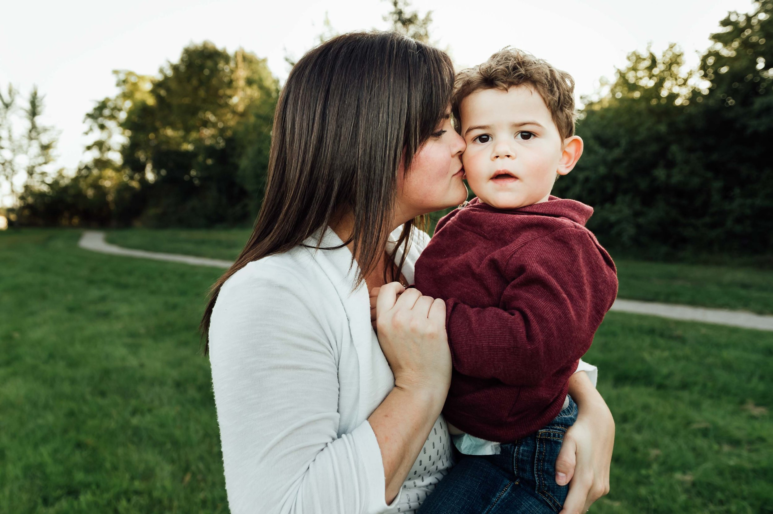 mother holding little boy - St Catharines family photographer