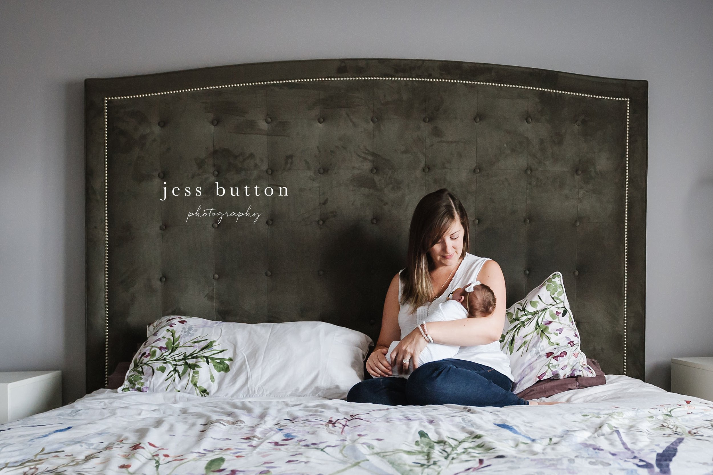 new mom holding baby girl - Fonthill - Niagara Newborn Photography