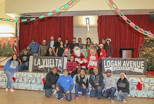 Grateful we were able to provide kids from our community with joy, smiles, toys, hot dogs, hot chocolate and cake. Thank you @barriodogg @ryanbroscoffee, Los Cabrones, @santanacm86 @gohlkegc and your girls, @sean_hrtn , @yourneighborhooddj , @chris_zertuche , ScotFather, @bonnie__a, and kids, @lepe_tendwell @marissa_cassani , Angie Young and Brian Young, @christine49hudson @sdfive1oh and your boys, @missladylush32 @karifornialove @sixfivedigitalmedia the staff at Burbank elementary, sorry if I missed anyone, our heartfelt thanks on behalf of The Logan Avenue Consortium and La Vuelta Car Cruise ....