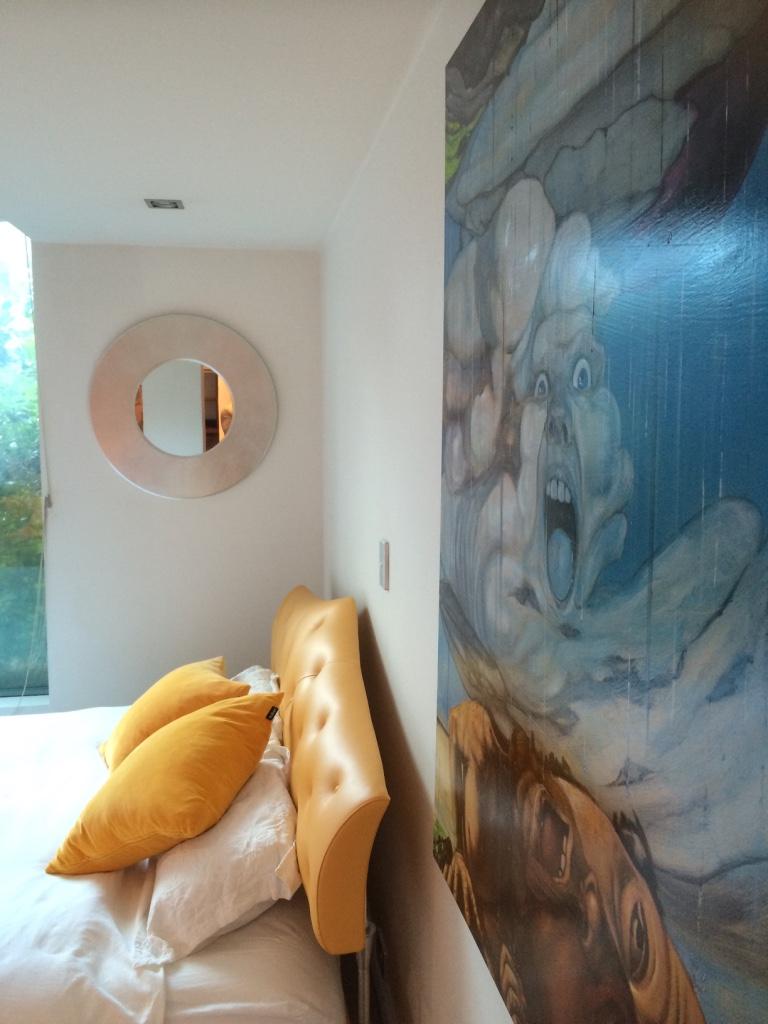 Beautiful art decor in bedroom