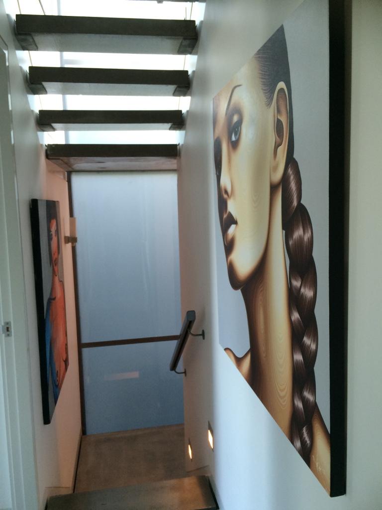 Artwork rich staircase