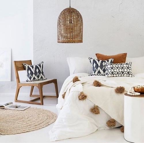 The Ethnic : I adore this space, its bright and warm, ideal for summer! The ethnic look is so on tread right now with its highly textured finishes.