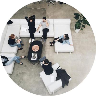 Stylish lobby design