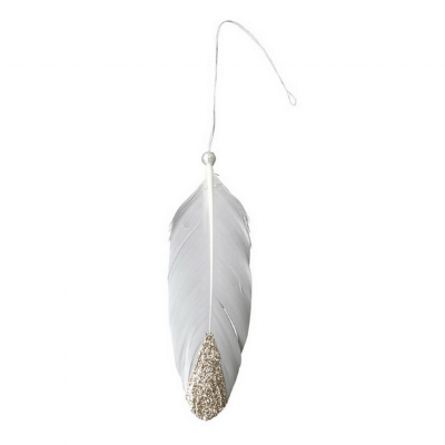 Golden feather adornment