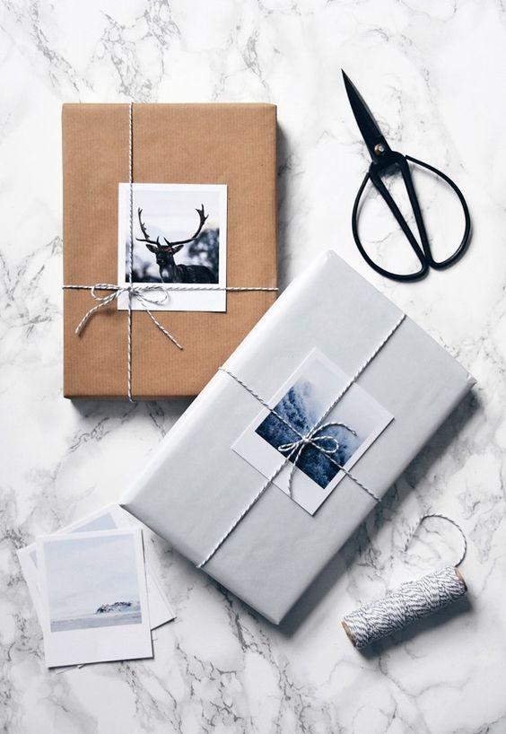Unique pictured gift wrap
