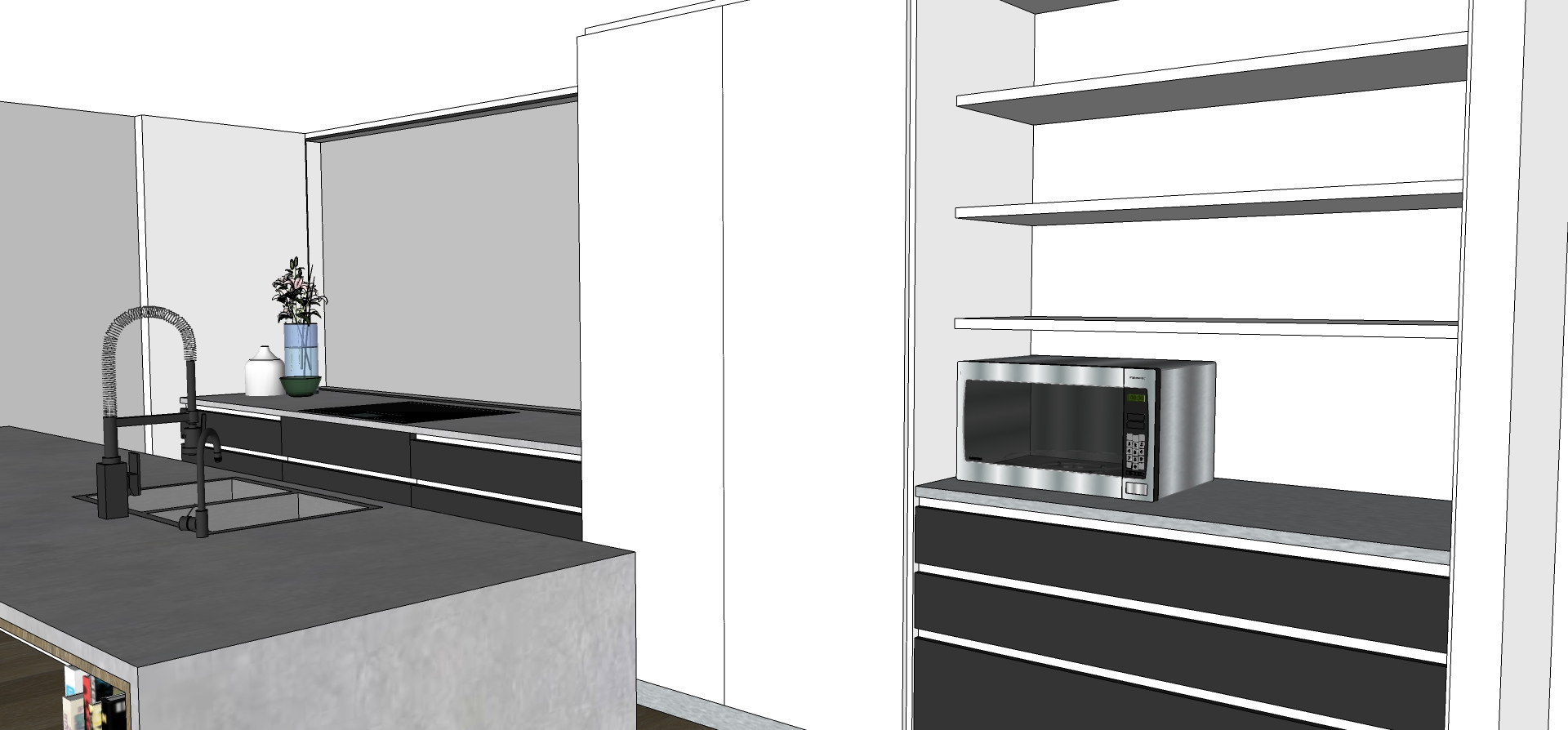 Palm Springs inspired kitchen design