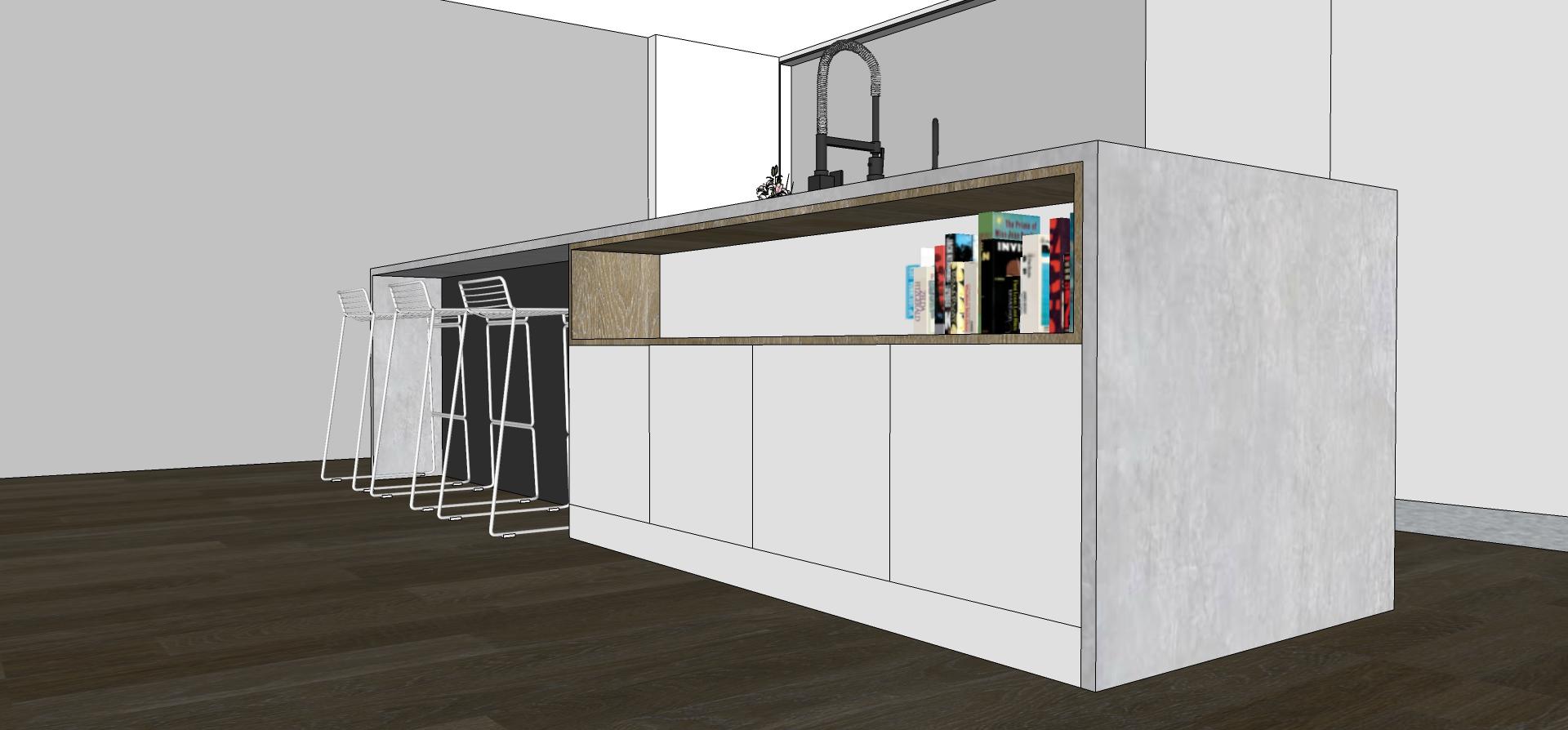 Pocket door kitchen design