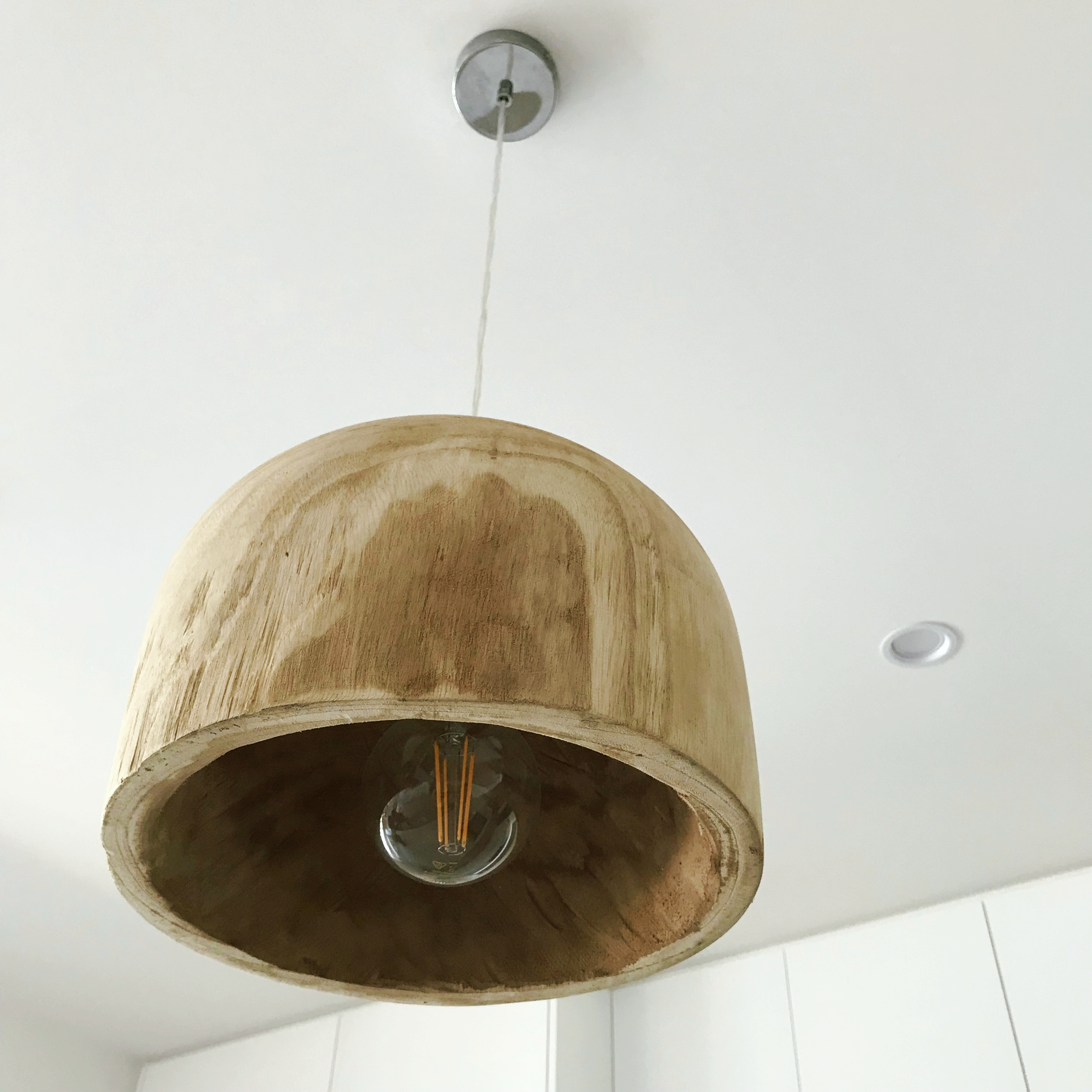 feature wood pendent lights