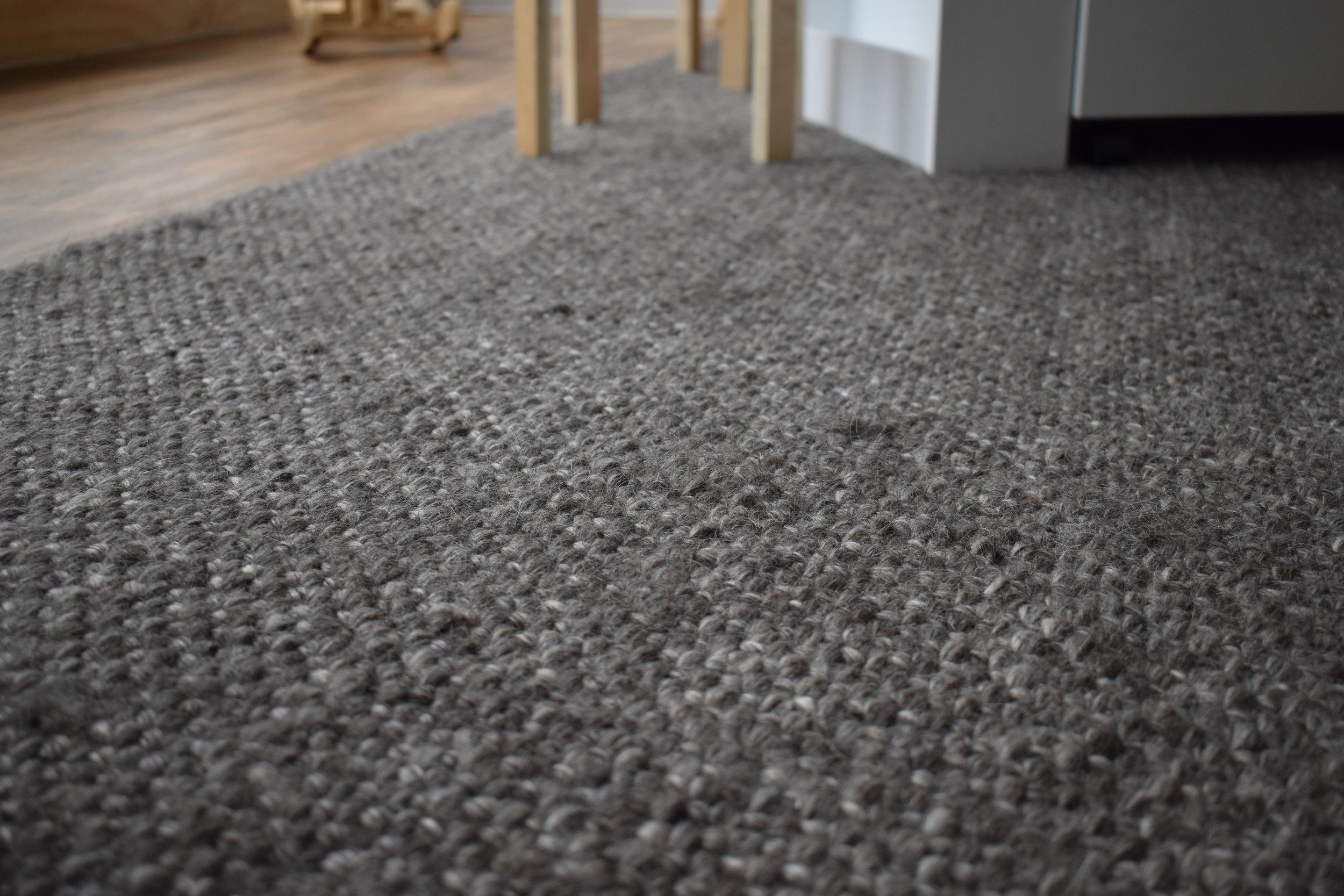 Charcoal Woollen Rug