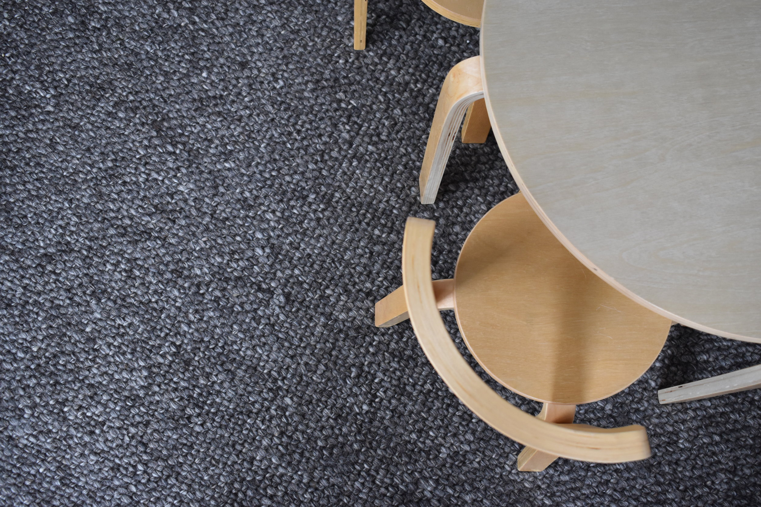 Kids Ply Chairs and Table on Woollen Rug