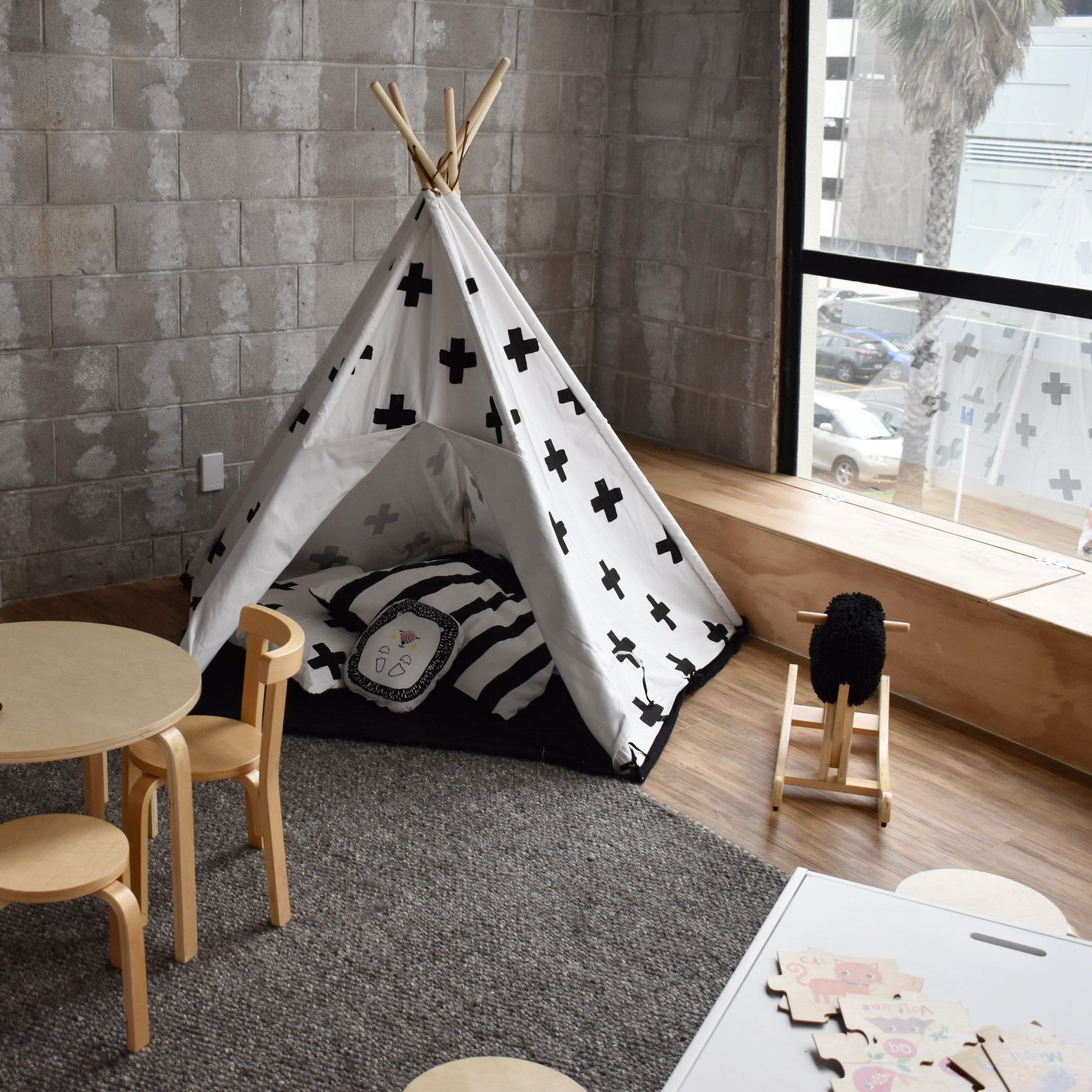 Teepee in the Toybox Playroom