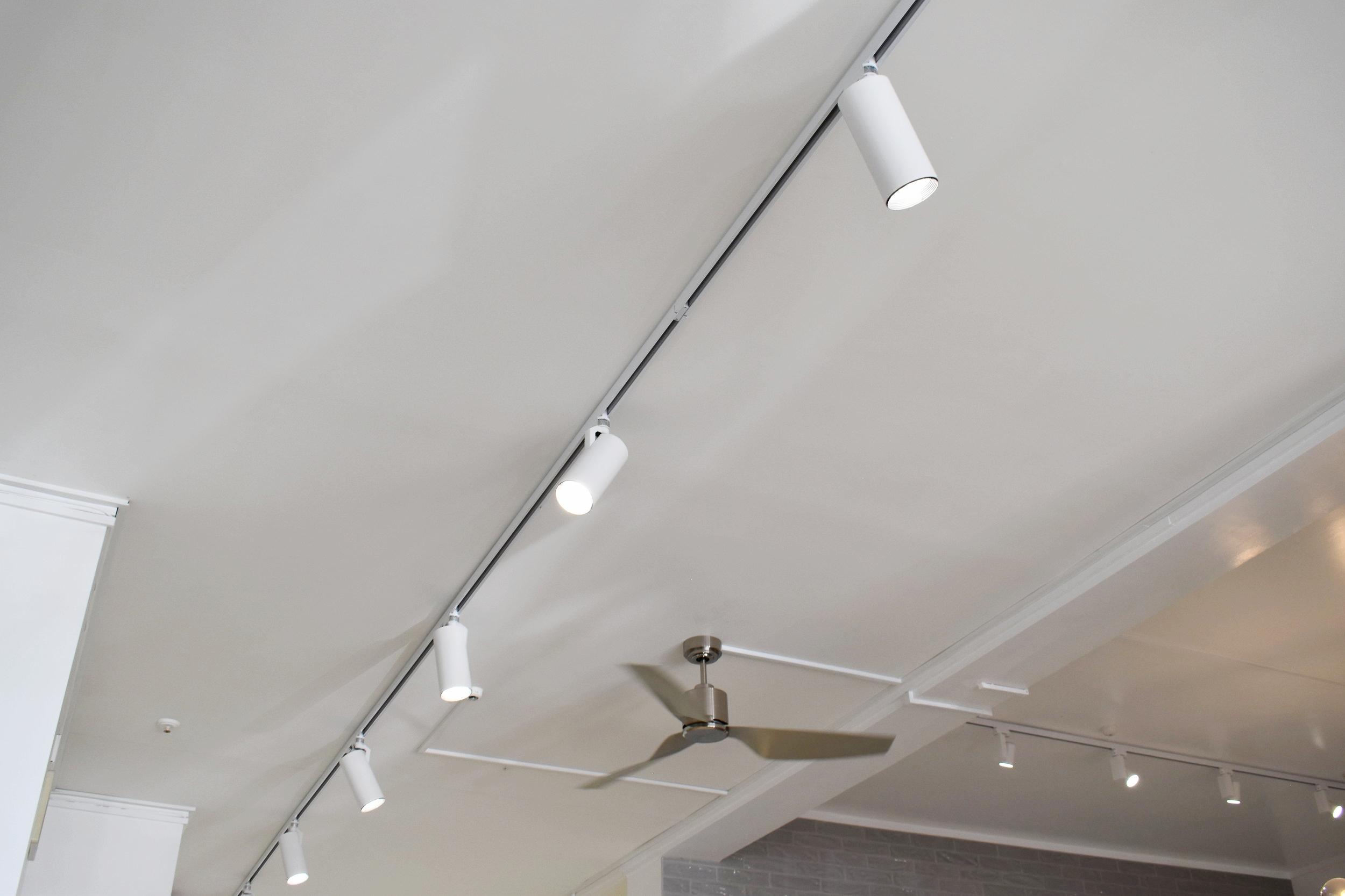 White Track Lighting