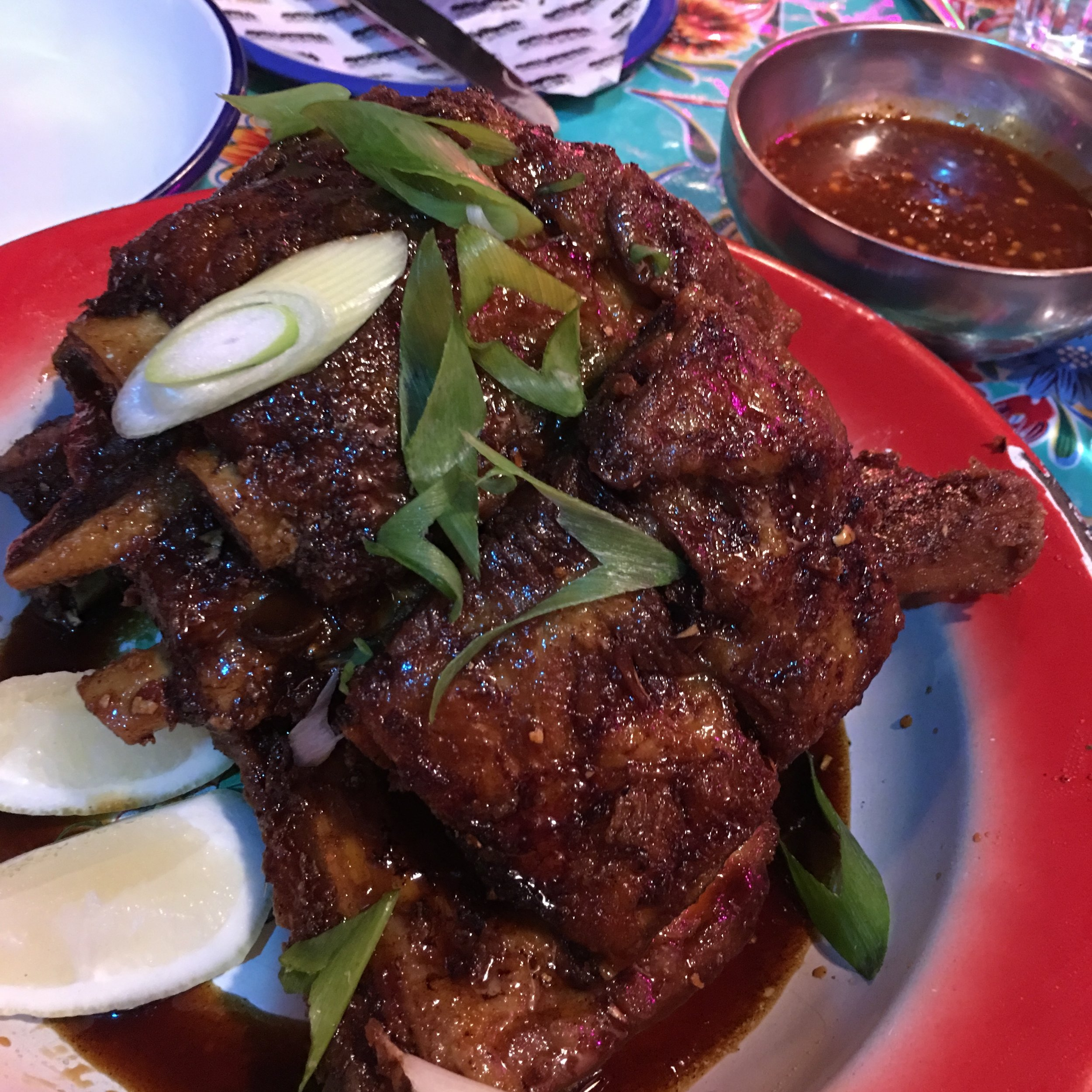 Thai style pork ribs.
