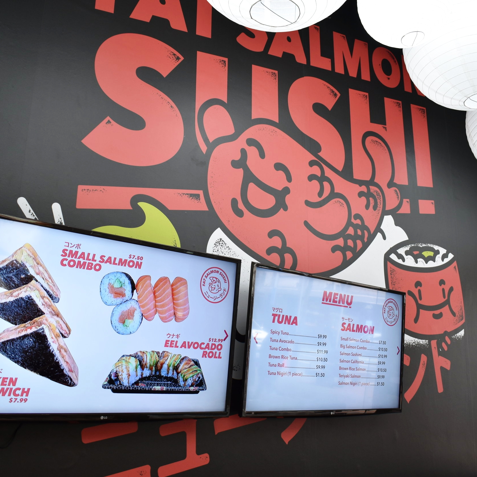 FAT SALMON SUSHI - A new look for this Auckland CBD sushi store...