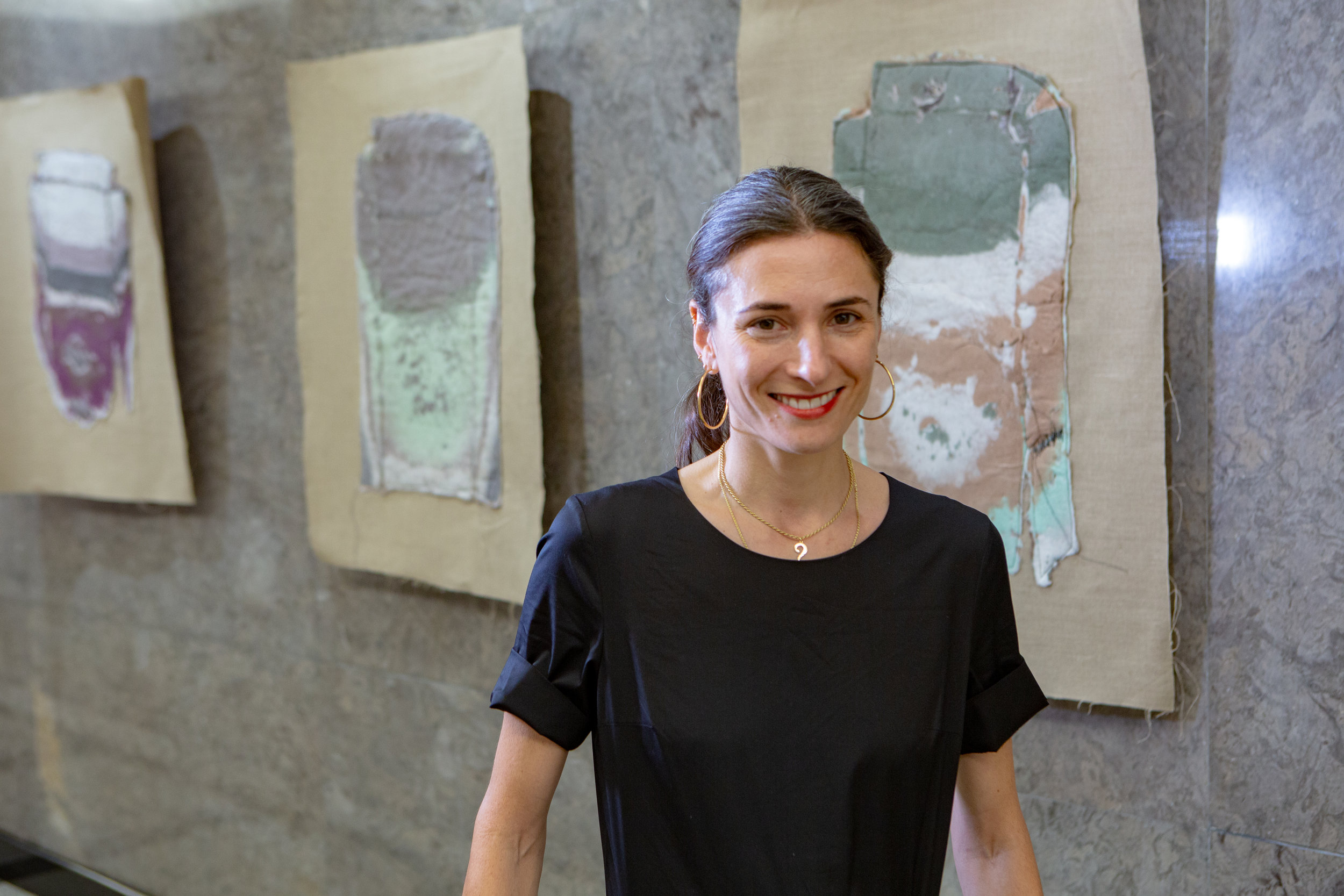 "Photo of  Sara Berman  at the ""Between Community and Commerce"" Opening"