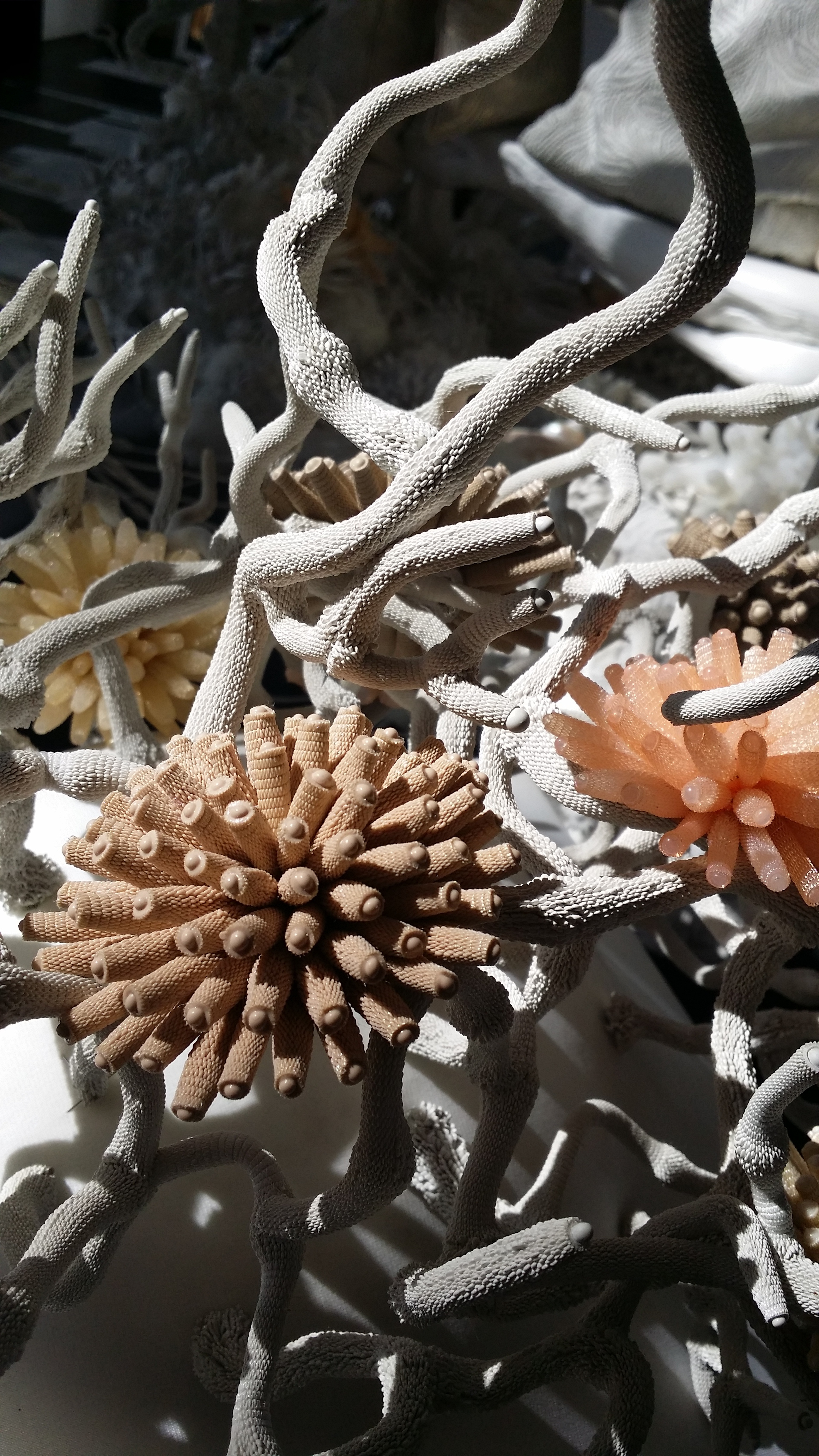 Silicon and Textile Reefs and corlals Broochs by Tzuri Gueta Courtesy of the artist