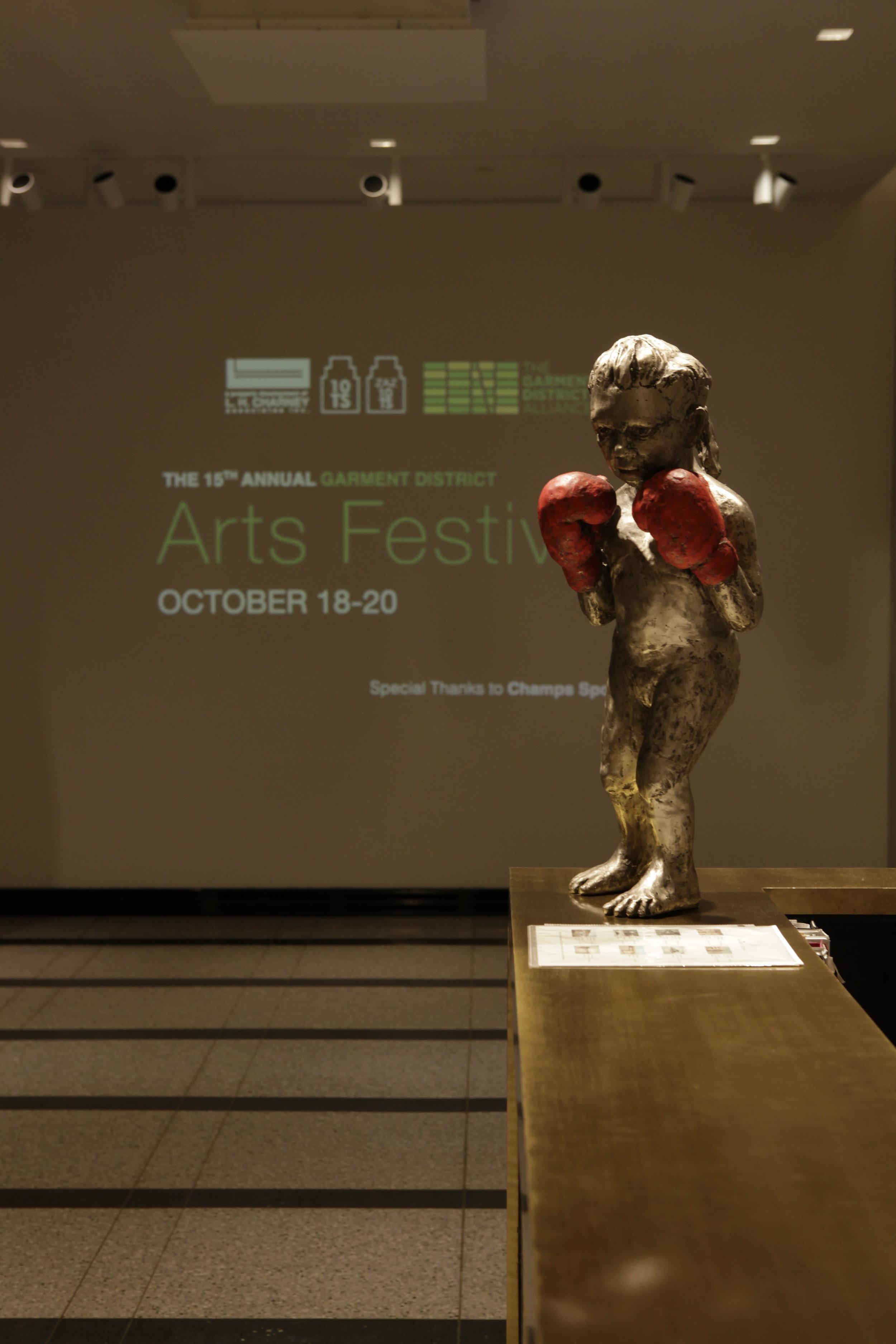 """Boxing Girl"" Sculpture by Claudia Alvarez"