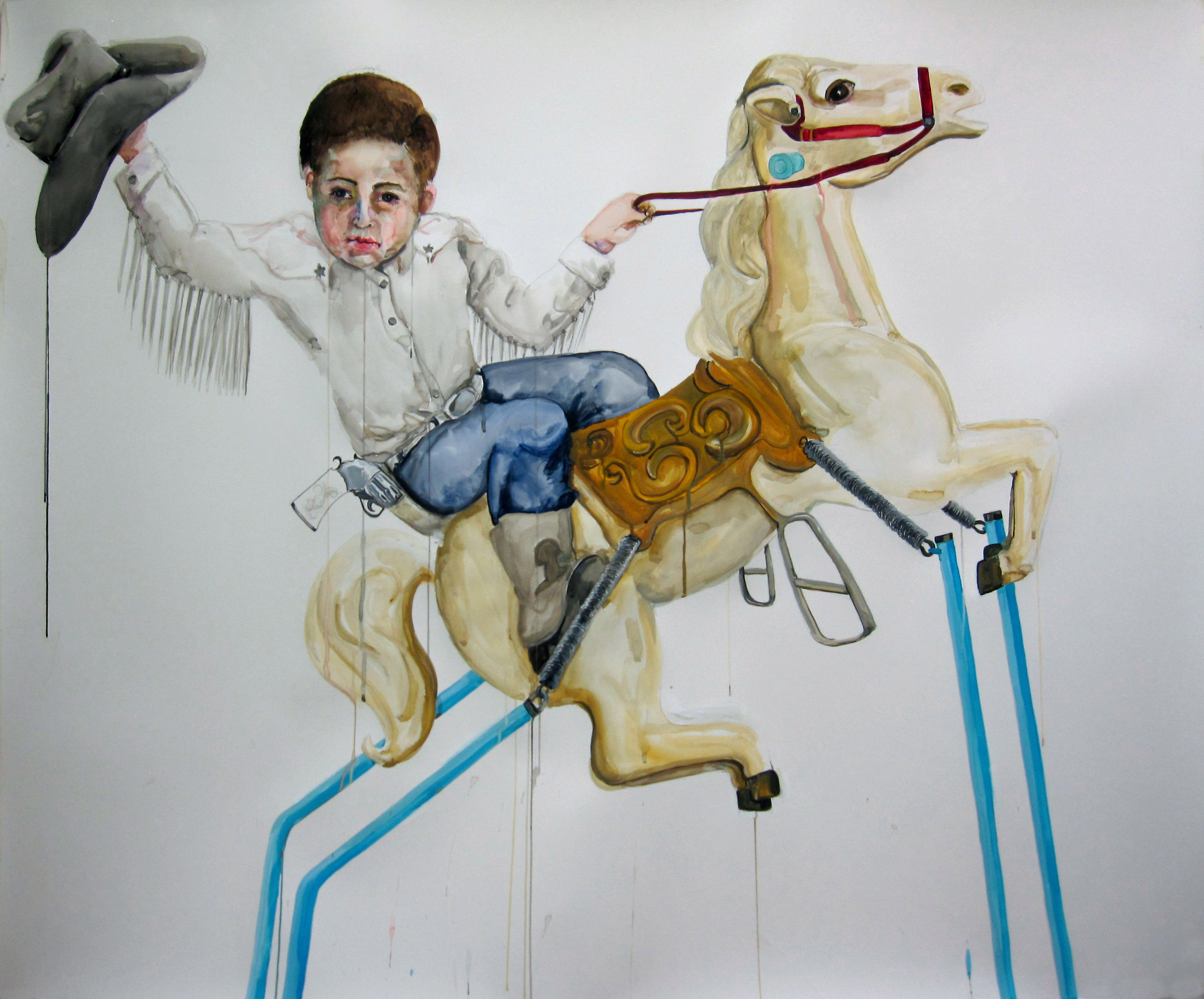 Conquistador , 2011, watercolor on paper, 52 x 60 inches