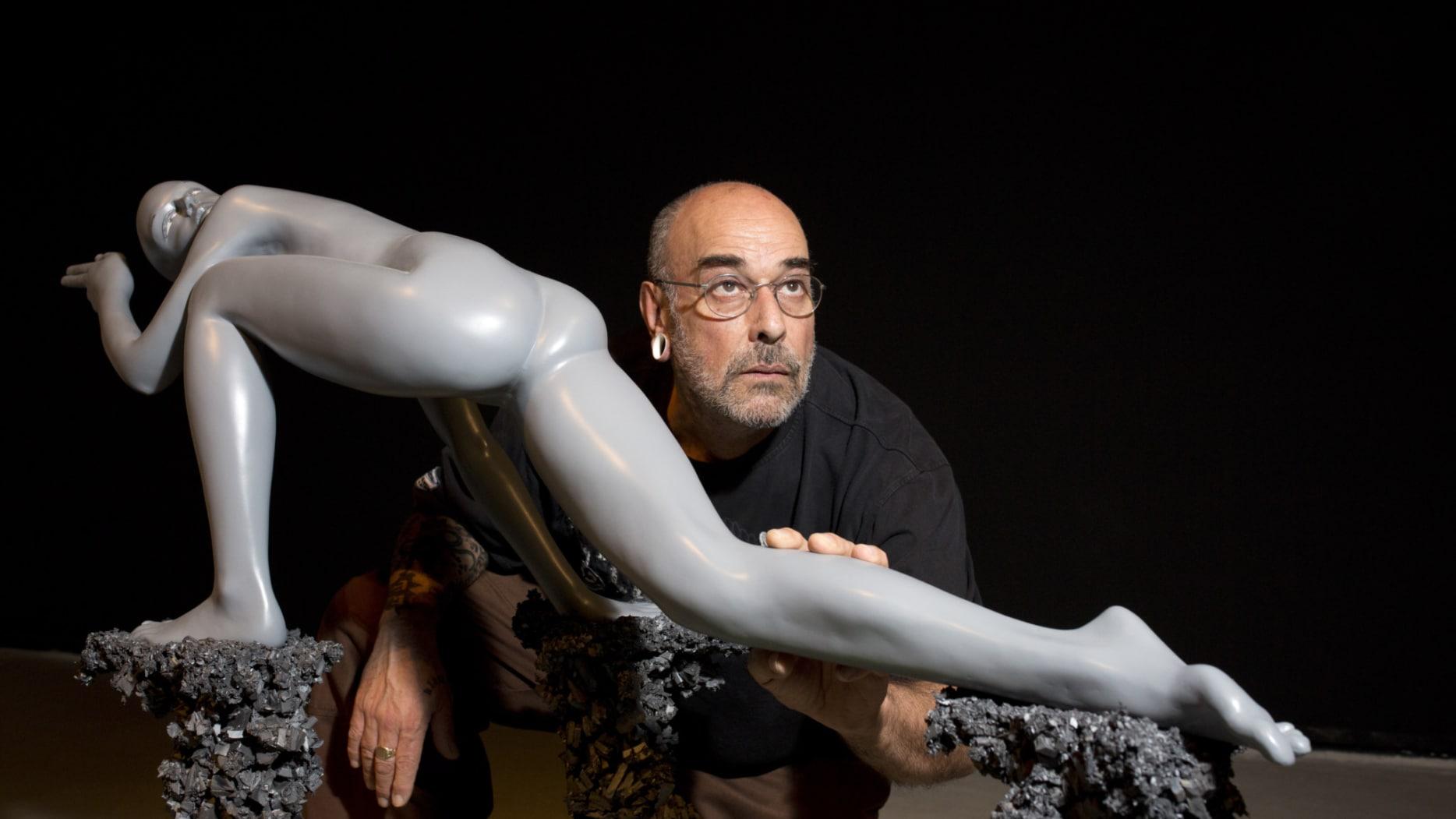 Uri Katzenstein with Sculpture from BACKYARD