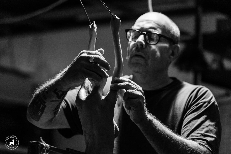 Uri Katzenstein Working on Sculpture
