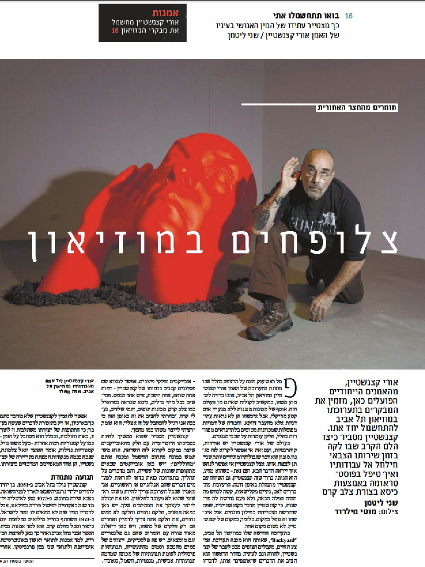 """Haaretz-Art and Culture      """"Come get Electrified with Me""""  ( May 25, 2015) 