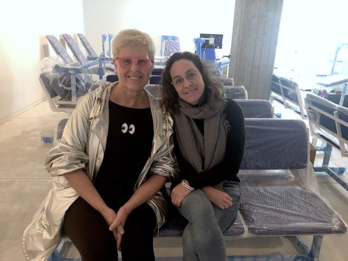 ZAZ10TS Founder Tzili Charney with featured artist Aya Ben Ron